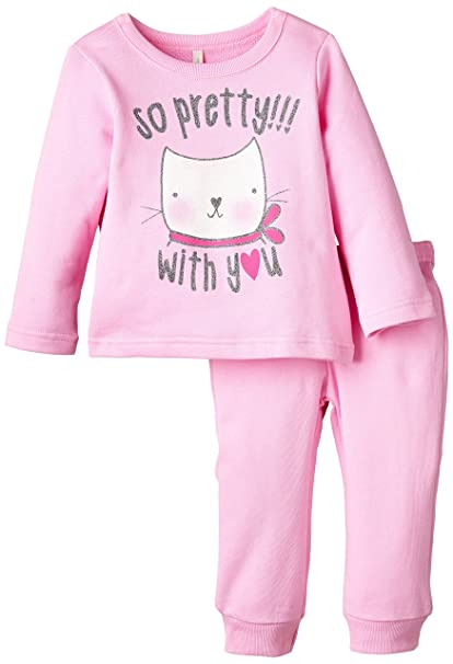 United Colors of Benetton 3J67Z12DP Bunny Tracksuit-Chándal Niños Rosa Rosa Palido 3 A 4