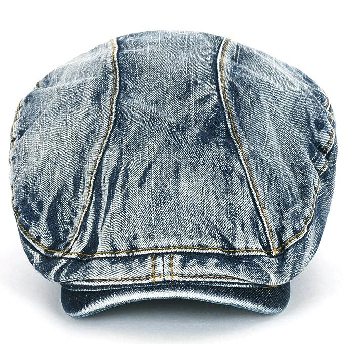 8ecd32d3 ililily Denim Newsboy Flat Cap Gatsby Caps ivy Irish Cabbie Hats Driver  Hunting Hat (flatcap-514-1): Amazon.co.uk: Clothing