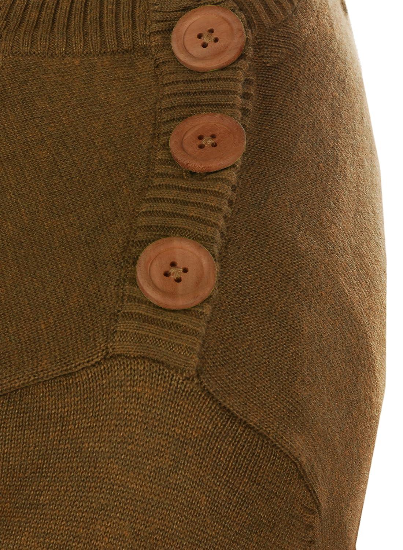 33f961bbcb88 Blend Louis Herren Strickpullover Feinstrick Pullover Mit Rundhals Und  Schulter-Knopfleiste