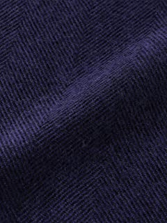 Herringbone Merino Scarf 3136-343-0372: Royal