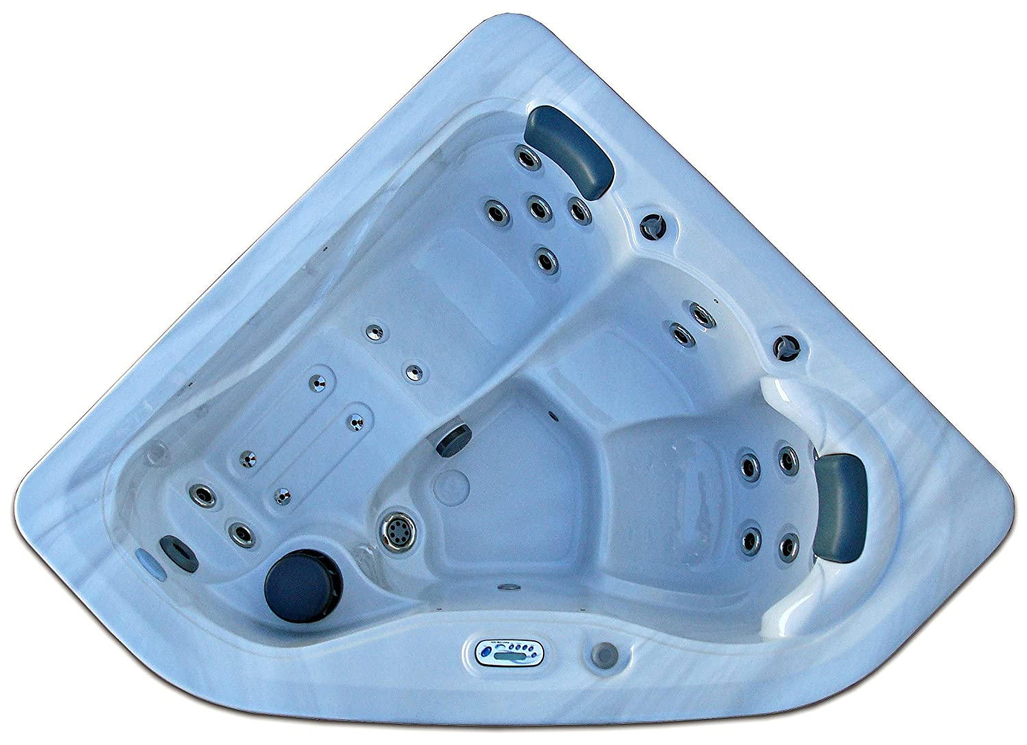 Amazon.com : 3 Person Corner Spa Hot Tub Signature Brand - 2 HP Pump ...