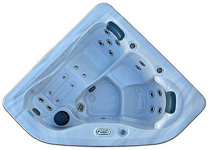 corner hot tub spa. 3 Person Corner Spa Hot Tub Signature Brand  2 HP Pump 27 SS Jets Amazon Com