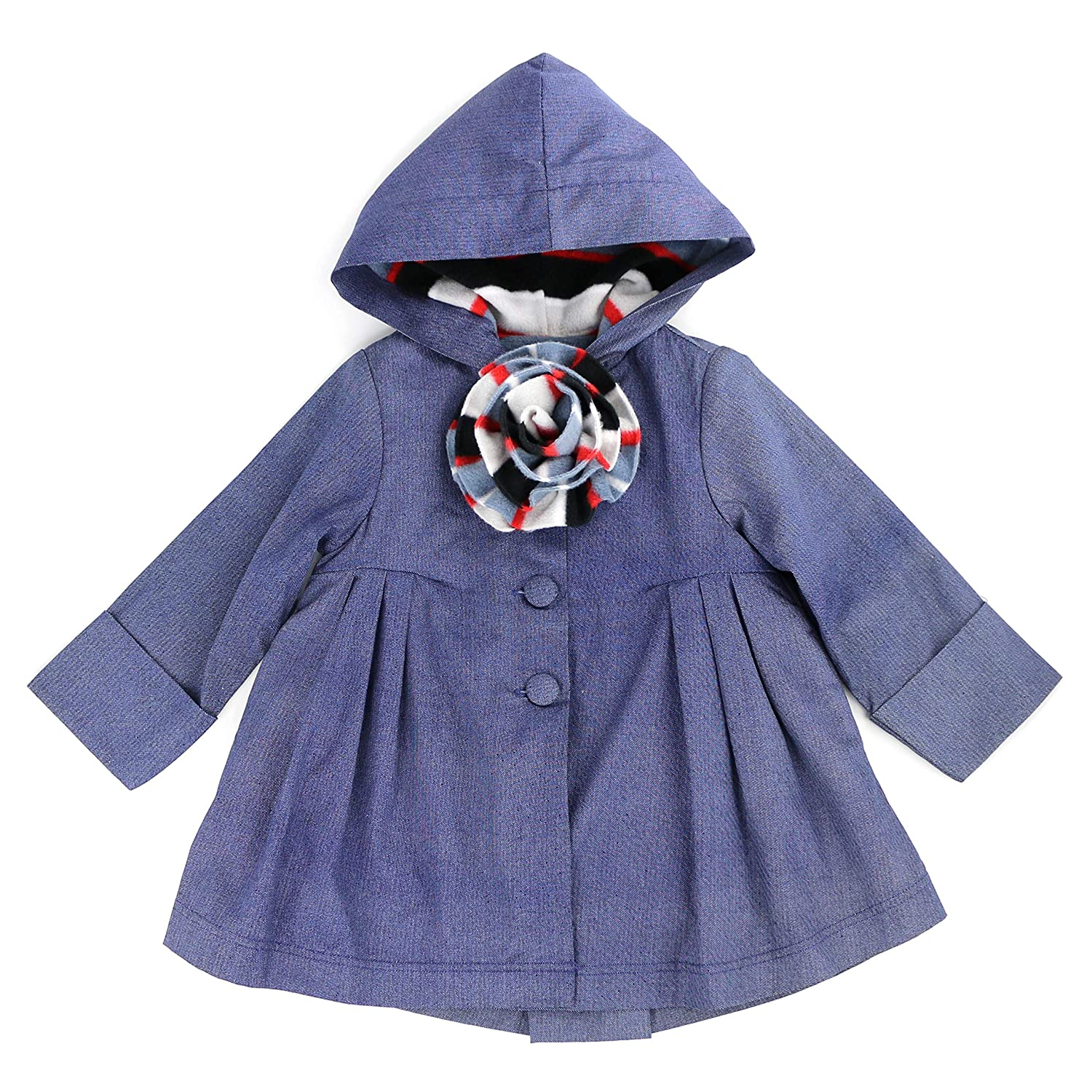 Valerie Lynns Hooded Swing Jacket with Fleece Lining 2-7//8 Toddlers and Girls Maria Elena