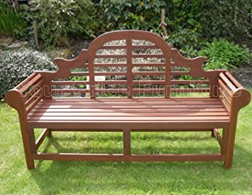 Richmond Large Hardwood Garden Bench Lutyens Marlboro Style 180cms 6ft  Great Outdoor Furniture For Your Garden