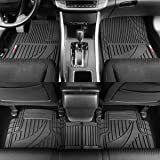 FlexTough Advanced Performance Rubber Floor Mats for Car SUV Auto Truck, 3pc Front & Rear Liner Set, All Weather Plus…