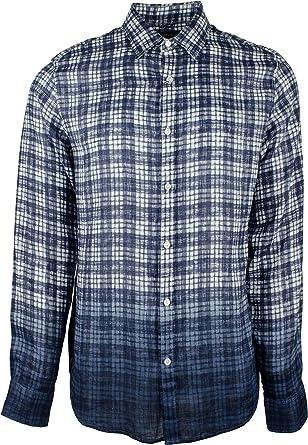 Michael Kors Camisa de Cuadros Ajustada teñida para Hombre ...