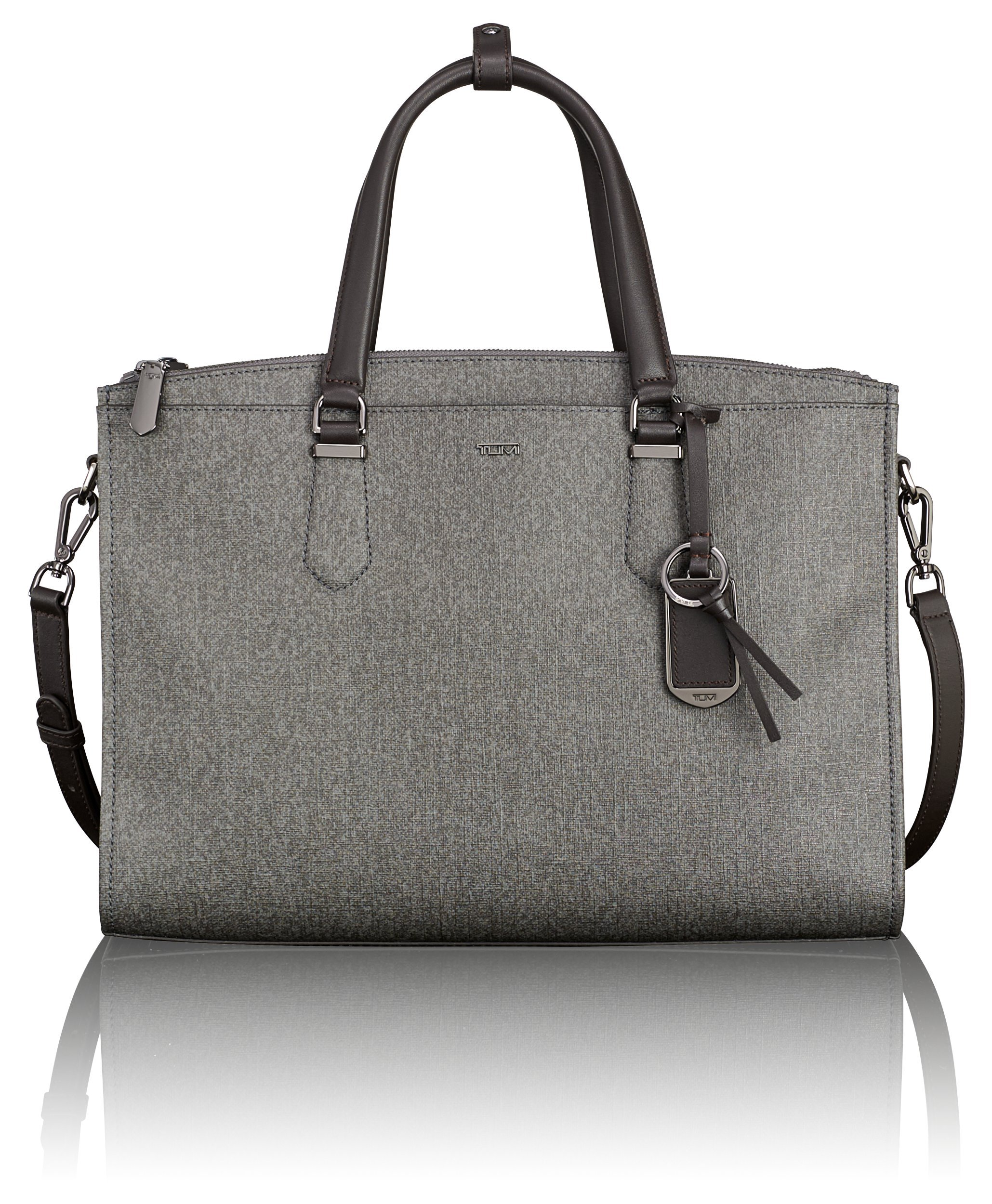 Tumi Women's Stanton Esme Business Brief Laptop Briefcase, Earl Grey, One Size