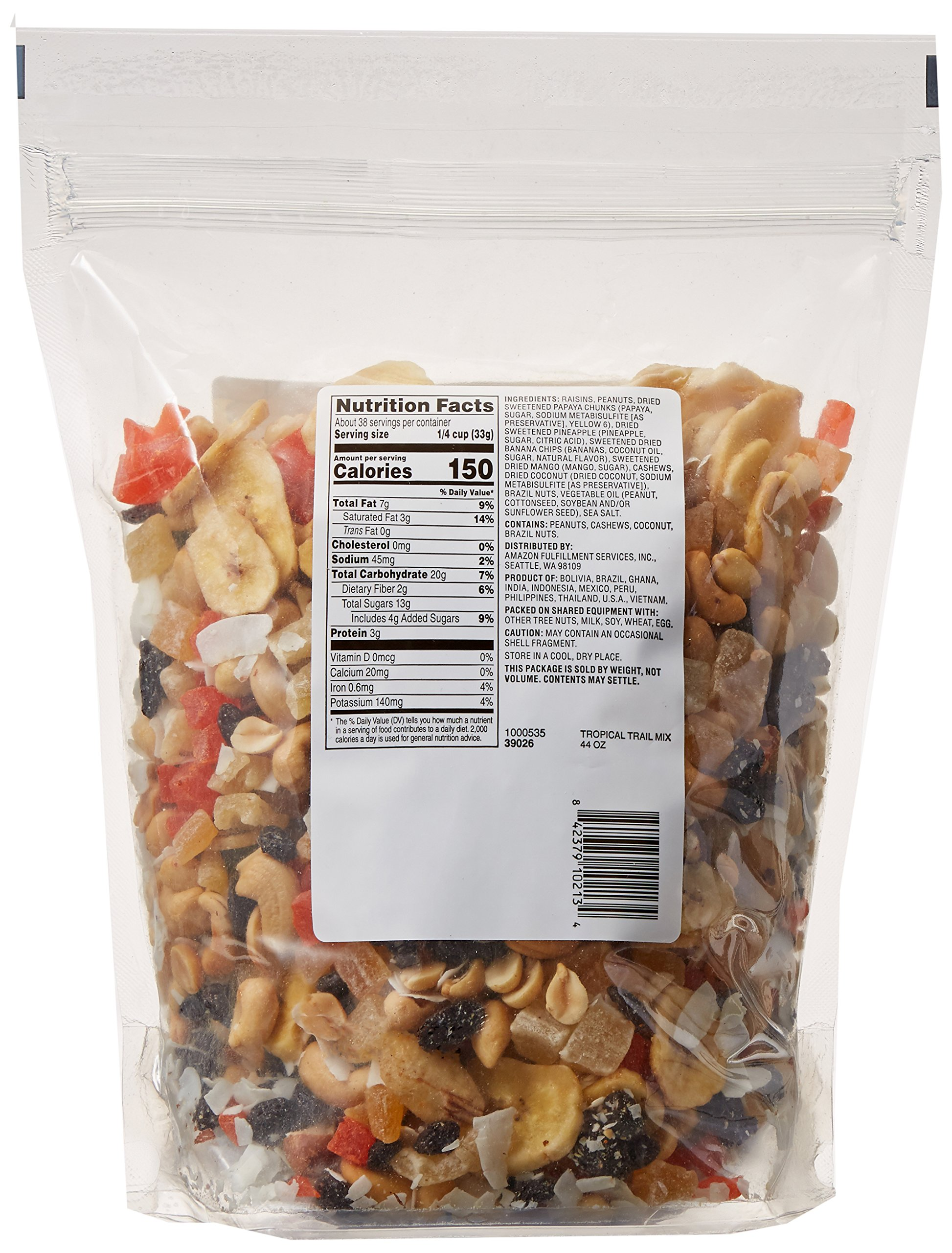 Amazon Brand - Happy Belly Amazon Brand Tropical Trail Mix, 44 ounce by Happy Belly (Image #5)