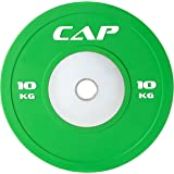 CAP Barbell Olympic 2-Inch Rubber Bumper Plate with Steel Hub, Single