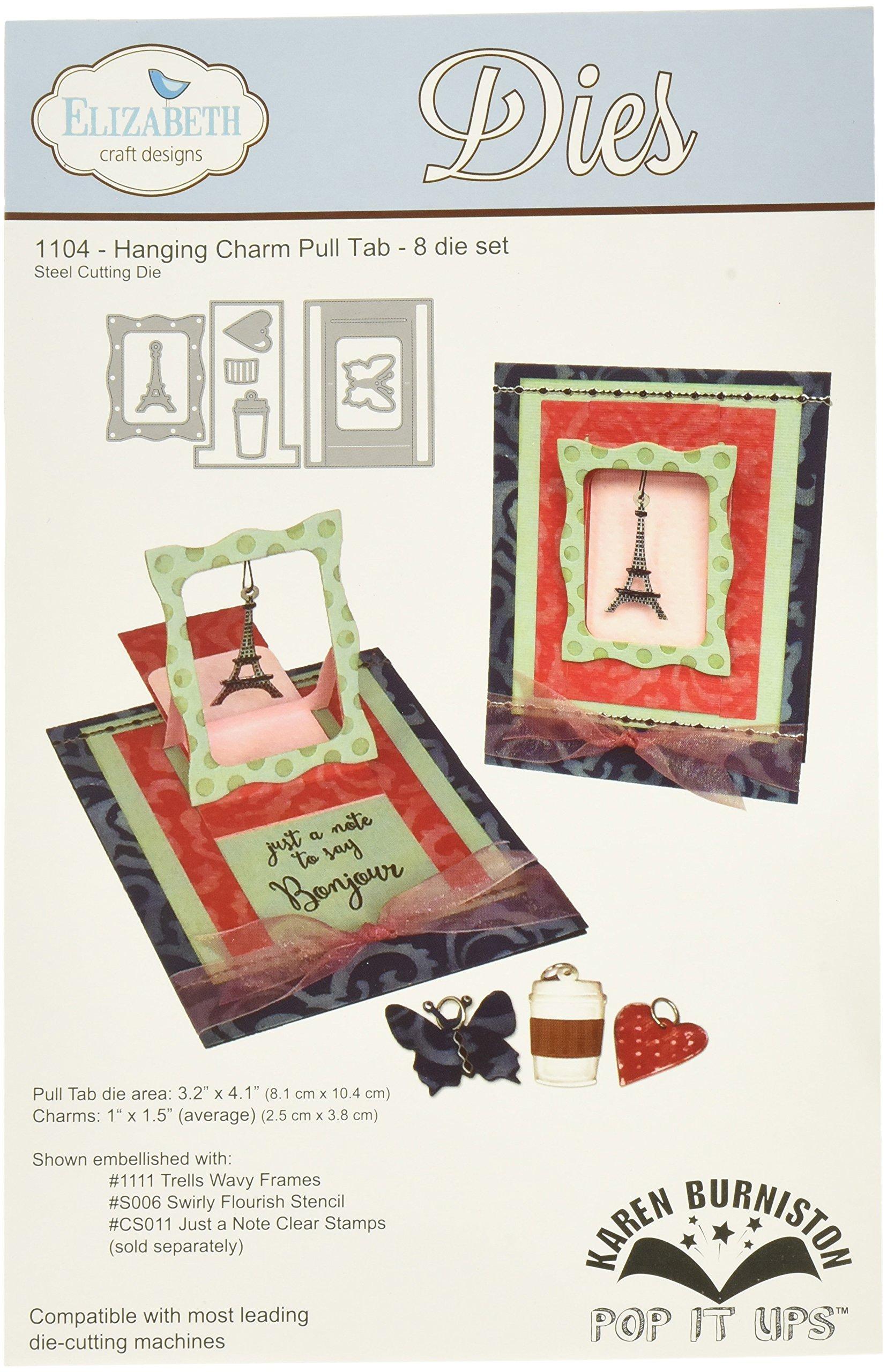 Elizabeth Craft Designs 1104 Karen Burniston Hanging Charm Pull Tab Pop It Up Metal Dies