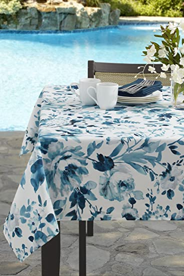 Garden Party Indoor/Outdoor Spillproof Tablecloth (60u0026quot; X 84u0026quot; ...