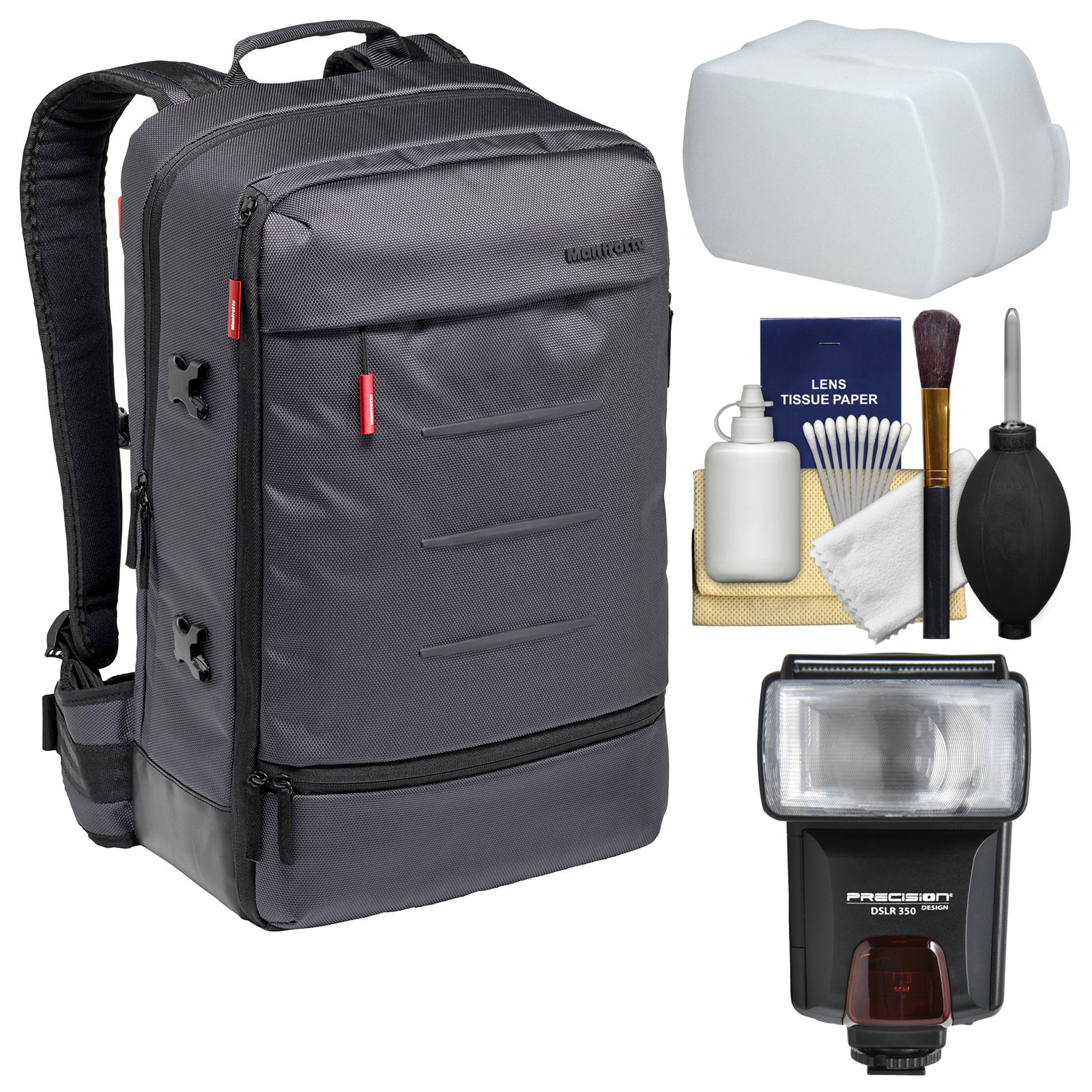 Manfrotto Lifestyle Manhattan Mover-50 Digital SLR Camera Backpack with Flash + Diffuser + Kit