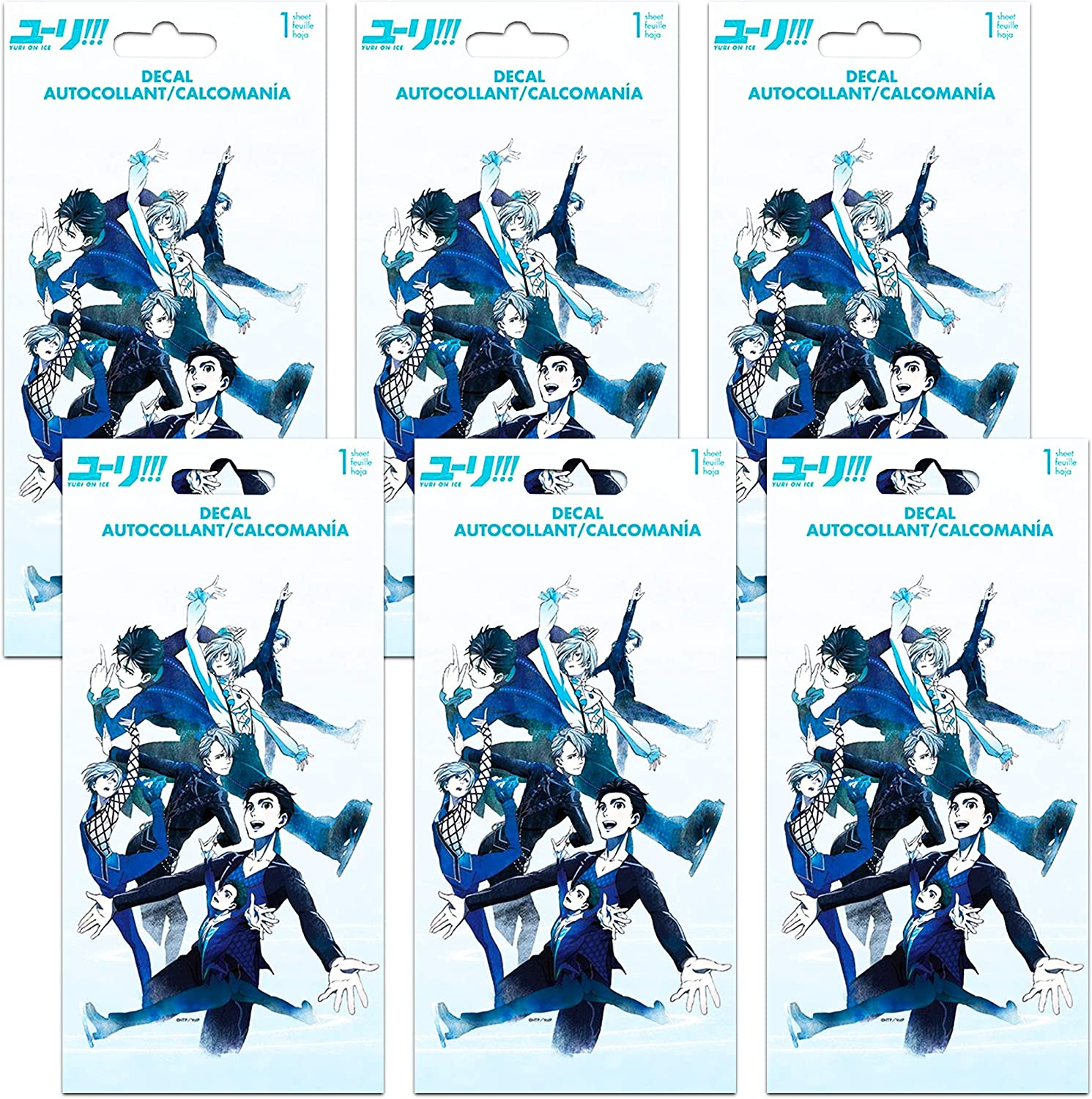 Yuri on Ice Party Supplies Laptop Yuri on Ice Party Favors Decals Bundle Set ~ 6 Large Decal Stickers for Car Walls