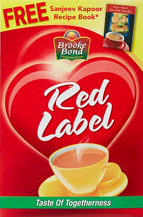 Brooke Bond Red Lable, 500g with Free Sanjeev Kapoor Recipe Book