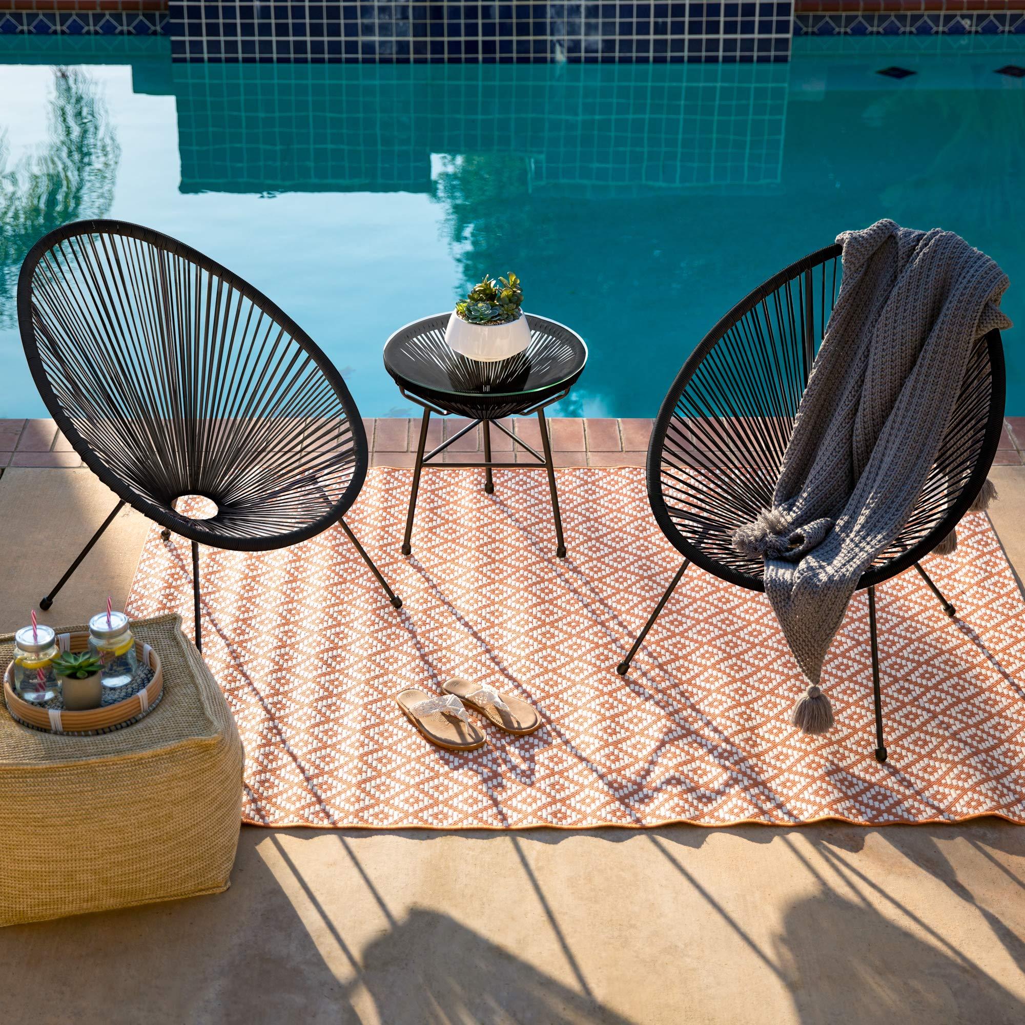 3-Piece All-Weather Patio Acapulco Bistro Furniture Set