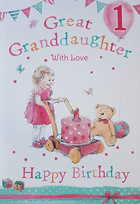 Gran nieta 1st 1 hoy feliz cumpleaños tarjeta con un ...