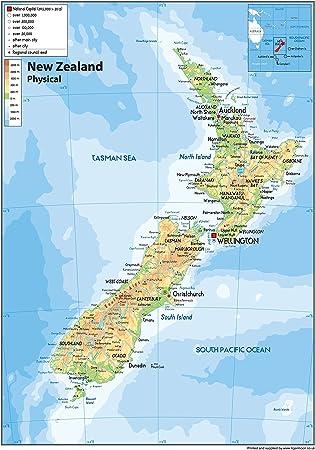 Karte Neuseeland