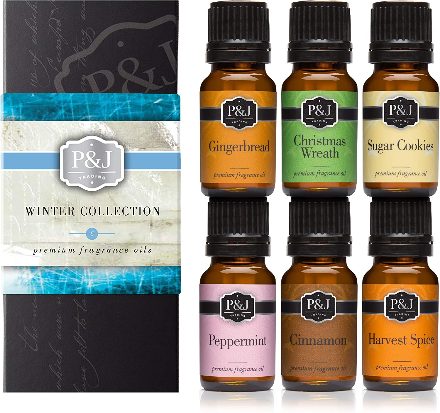 Winter Set of 6 Premium Grade Fragrance Oils