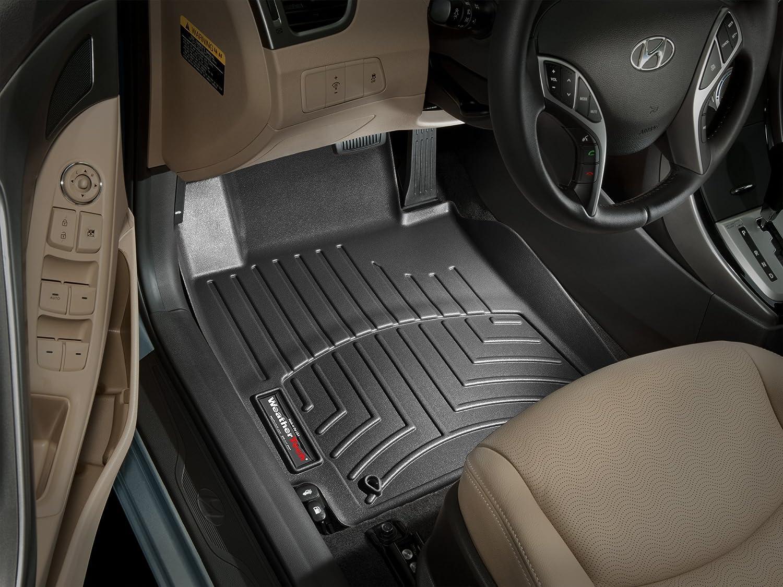 WeatherTech Custom Fit Front FloorLiner for Hyundai Elantra Black