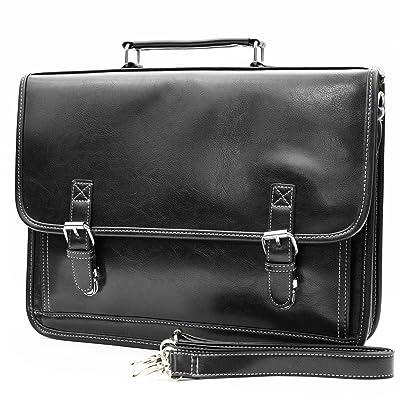 30%OFF Retro Classic design men's professional business briefcase messenger bag (black)