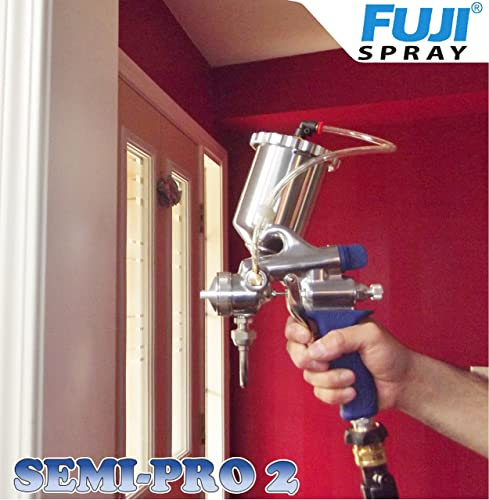 Fuji 2203G Semi-PRO 2 Gravity HVLP Paint Sprayer For Lacquer supports Stainless steel fluid passages that prevent wear on the needle tip