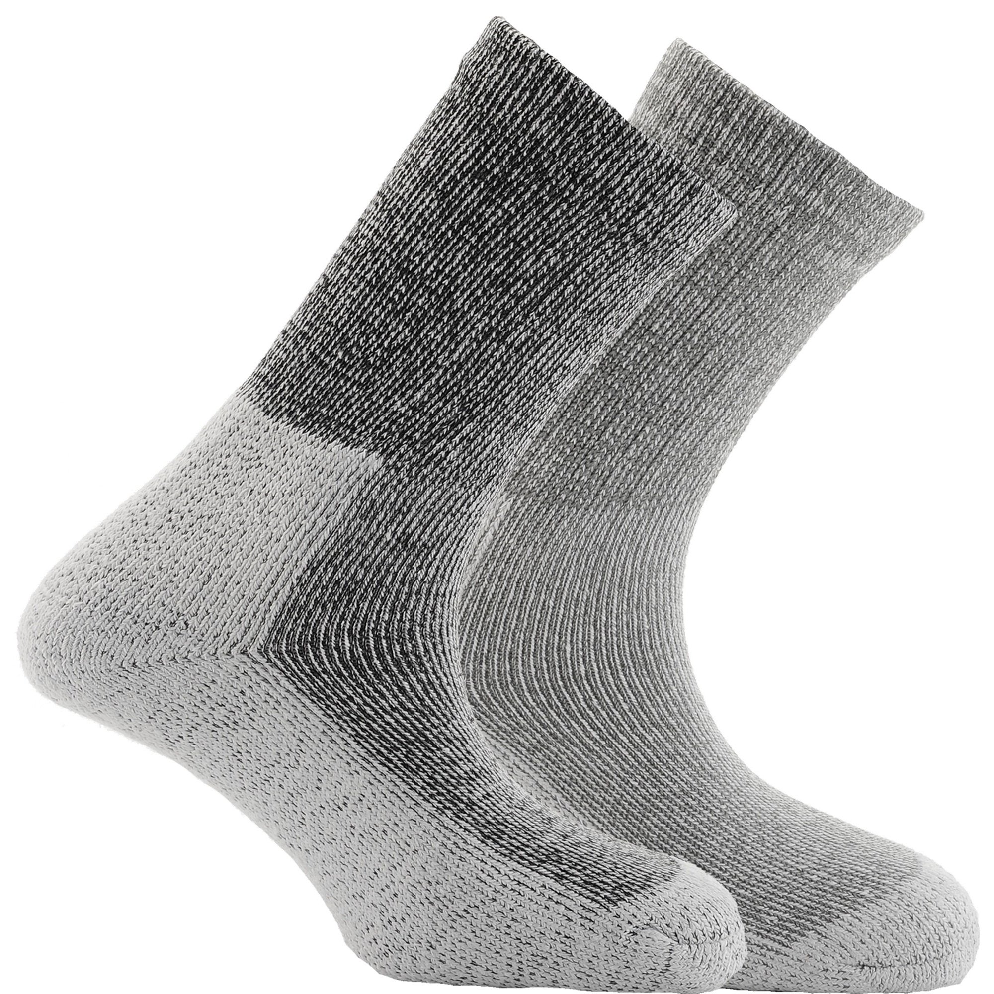 Horizon Unisex Deluxe Coolmax Outdoor Socks (Pack Of 2) (4.5-7.5 US) (Black Marl)