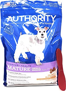 Authority Mature Adult Small Breed Dry Dog Food (Chicken and Rice) 6lbs and Especiales Cosas Mixing Spatula