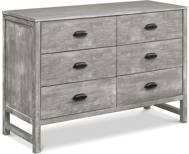 Davinci Fairway 6 Drawer Double Dresser In Cottage Grey M13516ctg Amazon Ca Baby