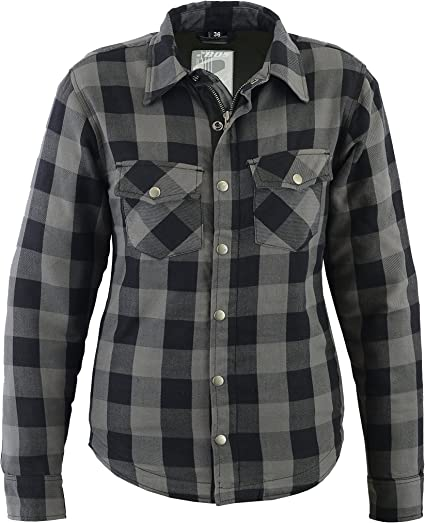 Mujer Kevlar Camisa, Lumberjack gris: Amazon.es: Coche y moto