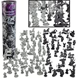 SCS Direct Fantasy Creatures Action Figure Playset - 90pc Monster Battle Toy Collection (Includes Dragons, Wizards, Orcs, and More) - Perfect for Roleplaying and D&D Gaming