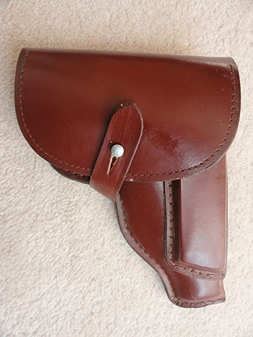 Original East German PPK holster( 32 caliber)- Leather made surplus not  China  Will fit  32 Mauser, Colt, and Cz27