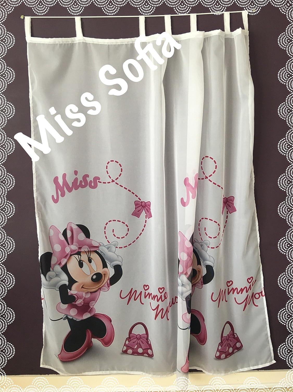 Polontex Gardine mit Schlaufen Minnie Mouse 1-75 cm B x 160 cm L Kinderzimmer