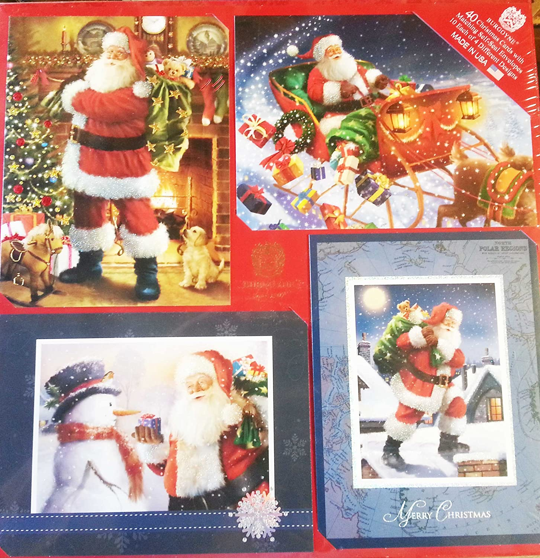Amazon.com : Burgoyne 40 Christmas Cards with Matching Envelopes 10 ...
