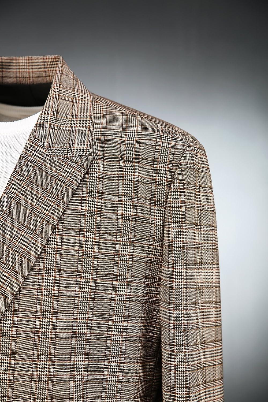 ByTheR Men's Modern Glen Check Plaid Premium Cotton Spring