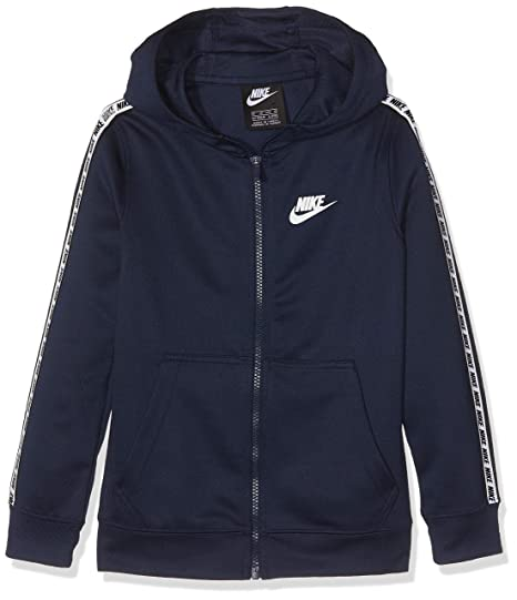 Nike Jungen B NSW Repeat Fz Poly Hood Sweatshirt