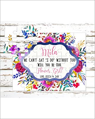 Personalized Flower Girl Puzzle - Puzzle Proposal - Asking Flower Girl - Wedding Announcement - P0009