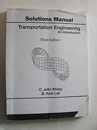 amazon com solutions manual for transportation engineering an rh amazon com Student Solutions Manual Freight Forwarder