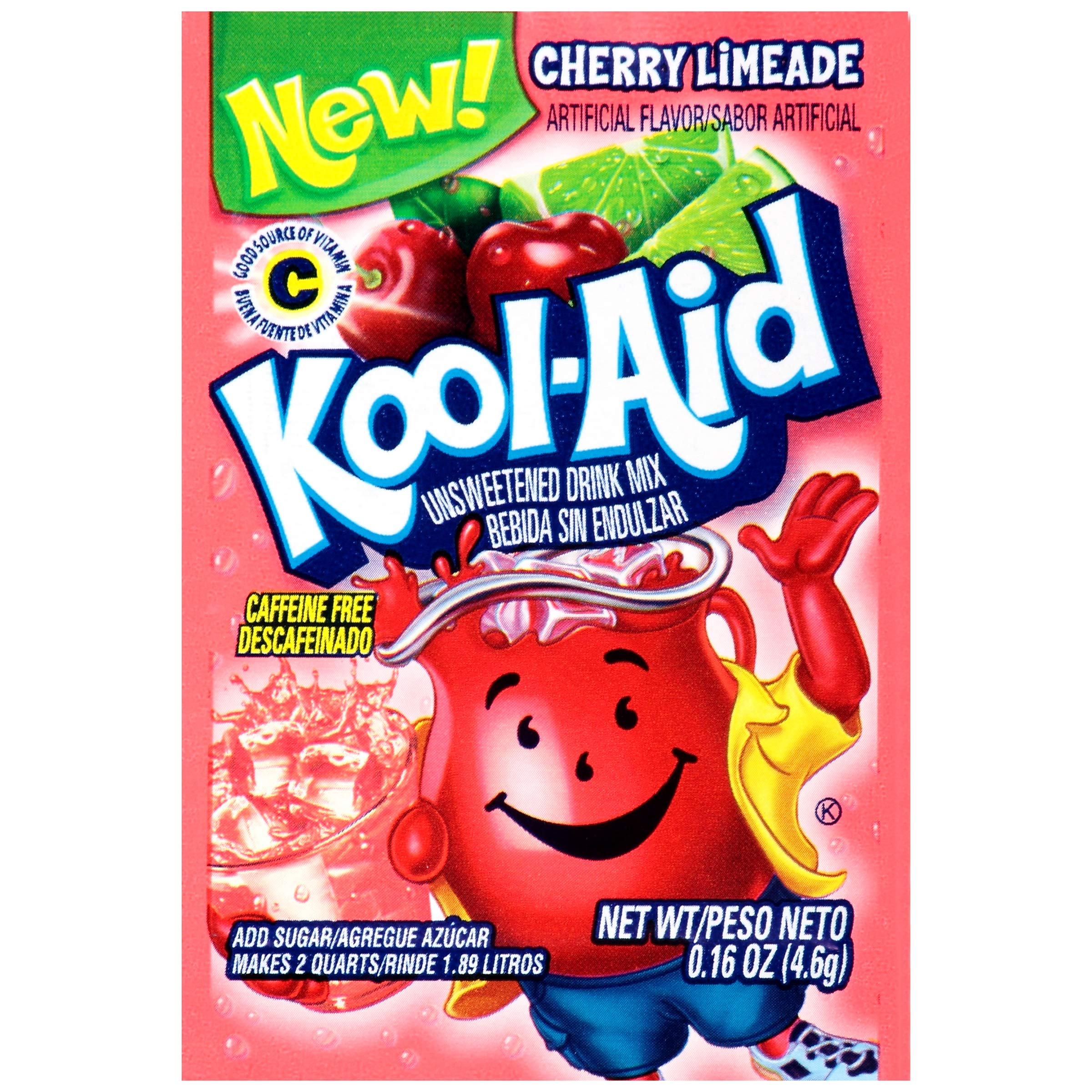 Kool-Aid Cherry Limeade Flavored Unsweetened Caffeine Free Powdered Drink Mix (192 Packets)