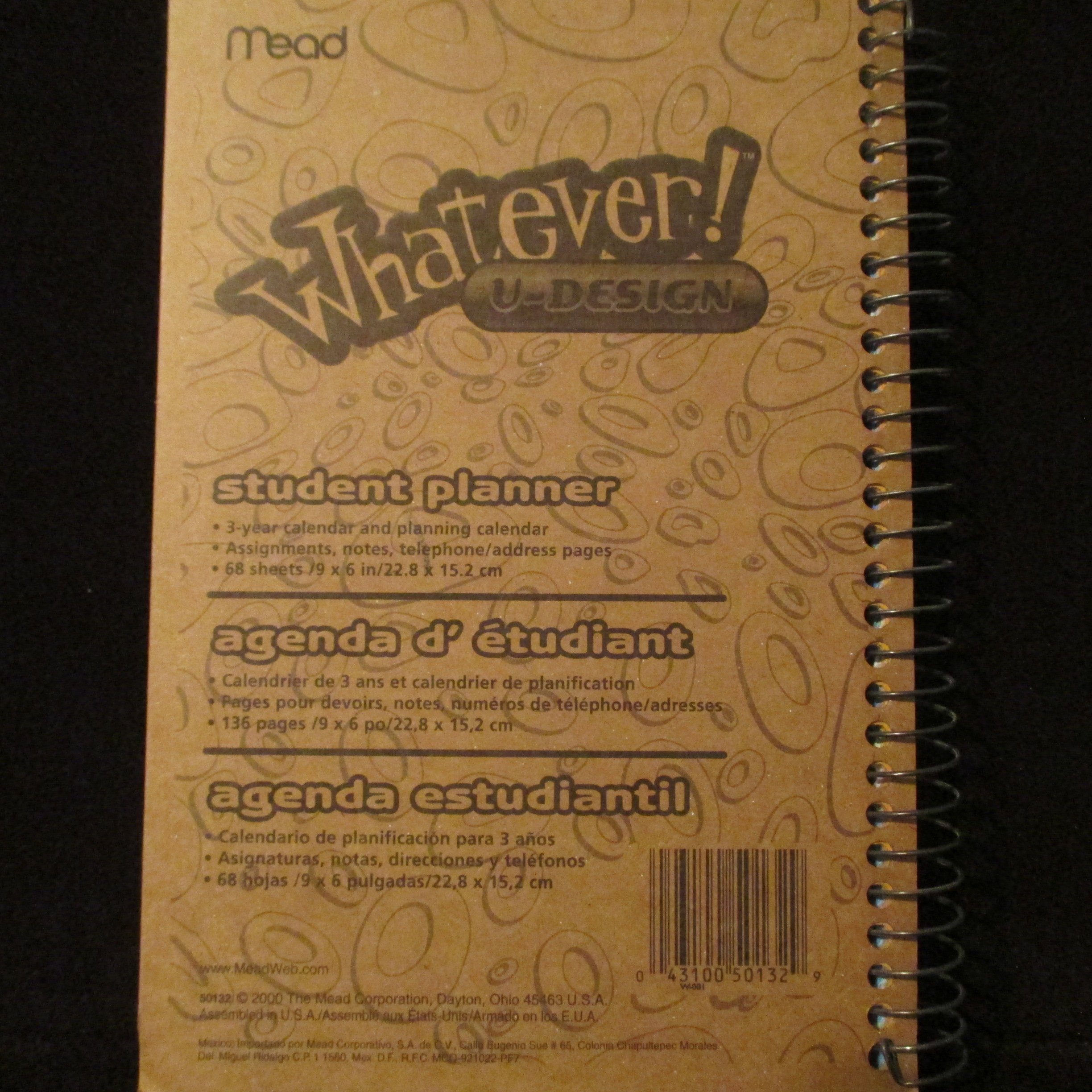 Mead Design Your Own! Student Planner: Mead: 0043100501329 ...