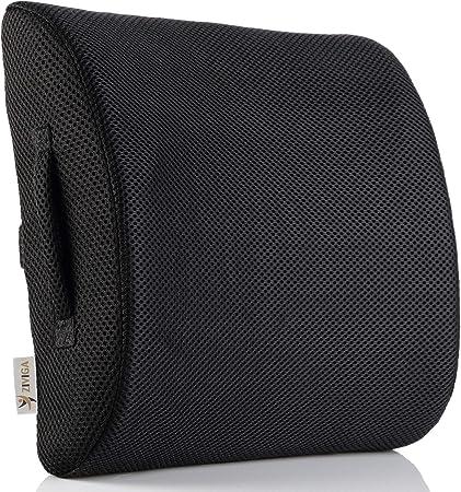 YK.Hapyshop Back Cushion Lumbar Cushion Orthopaedic Pillow Soft Plush Hamster Support Cushion for Car Bed Office Chair and Sofa 55x50cm grey