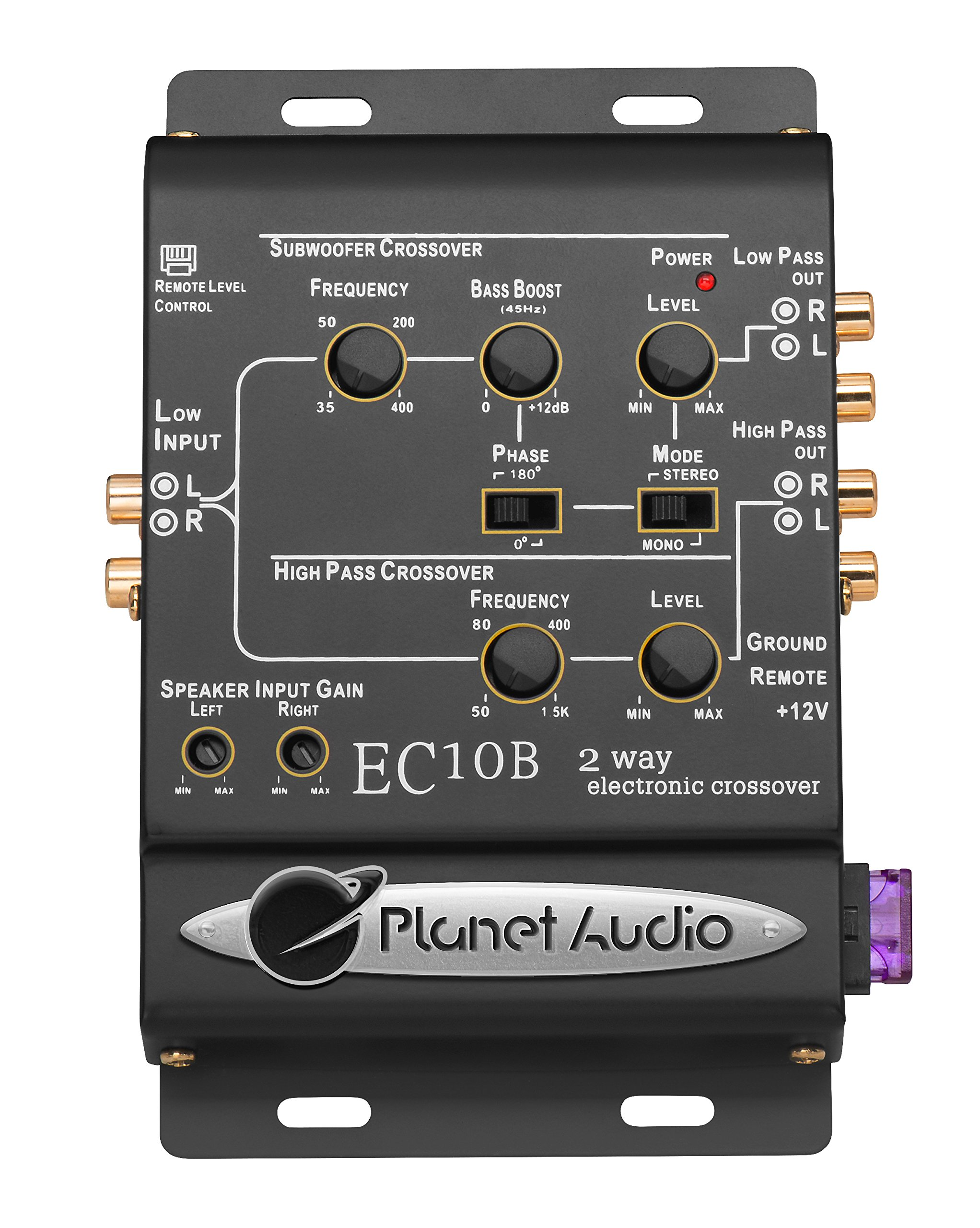 Planet Audio EC10B 2-Way Electronic Crossover With Remote Subwoofer Control by Planet Audio