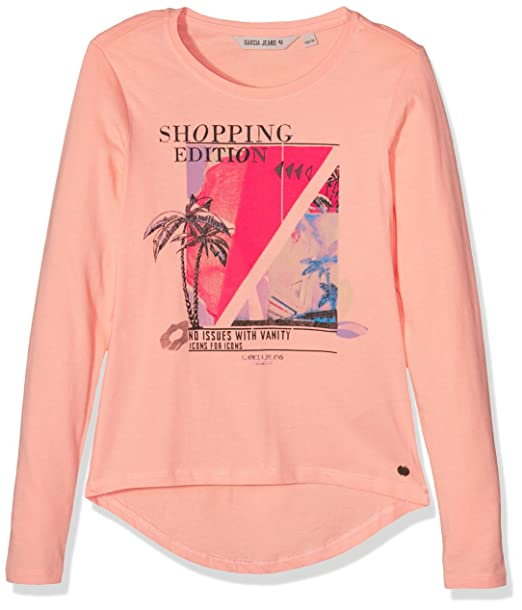 125f00dd1 Garcia Kids B72627, Camiseta de Manga Larga Para Niñas, Rosa (pretty ...