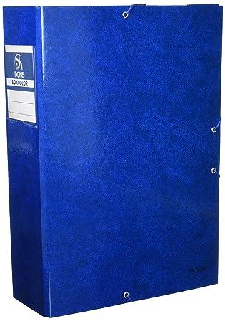 Dohe 9744 - Caja proyectos lomo, 9 cm, color azul: Amazon.es: Oficina y papelería