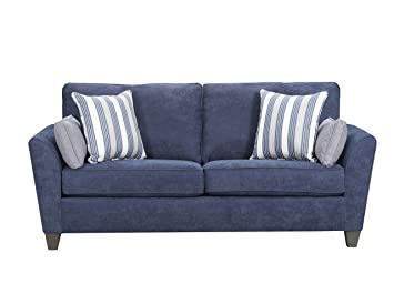 on sale e183d cf51c Amazon.com: Simmons Upholstery Prelude Navy 7081-04Q Sleeper ...