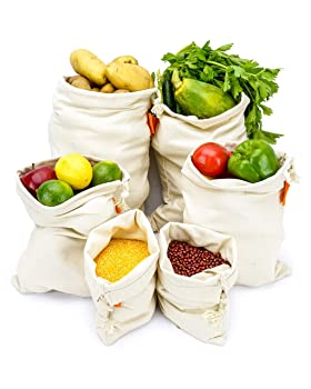 Bodaon Cotton Reusable Grocery Bags