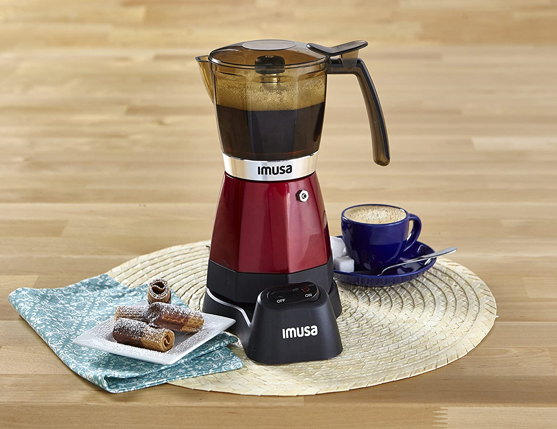 Amazon.com: IMUSA USA B120-60008 Electric Espresso/Moka Maker, 3-6 Cups, Red: Kitchen & Dining