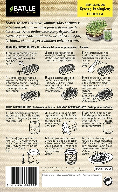 Semillas Ecológicas Brotes - Brotes ecológicos de Mix vitalidad - Batlle: Amazon.es: Jardín