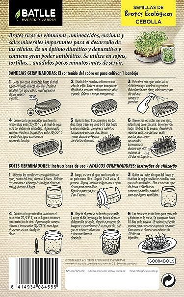 Semillas Ecológicas Brotes - Brotes ecológicos de Alfalfa - Batlle: Amazon.es: Jardín