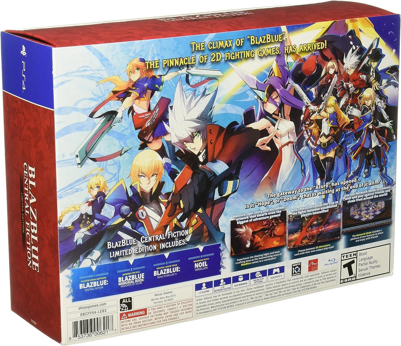 Blazblue Central Fiction Playstation 4 Aksys Games Ps4blazblue Chrono Phantasma Extend Reg All Video