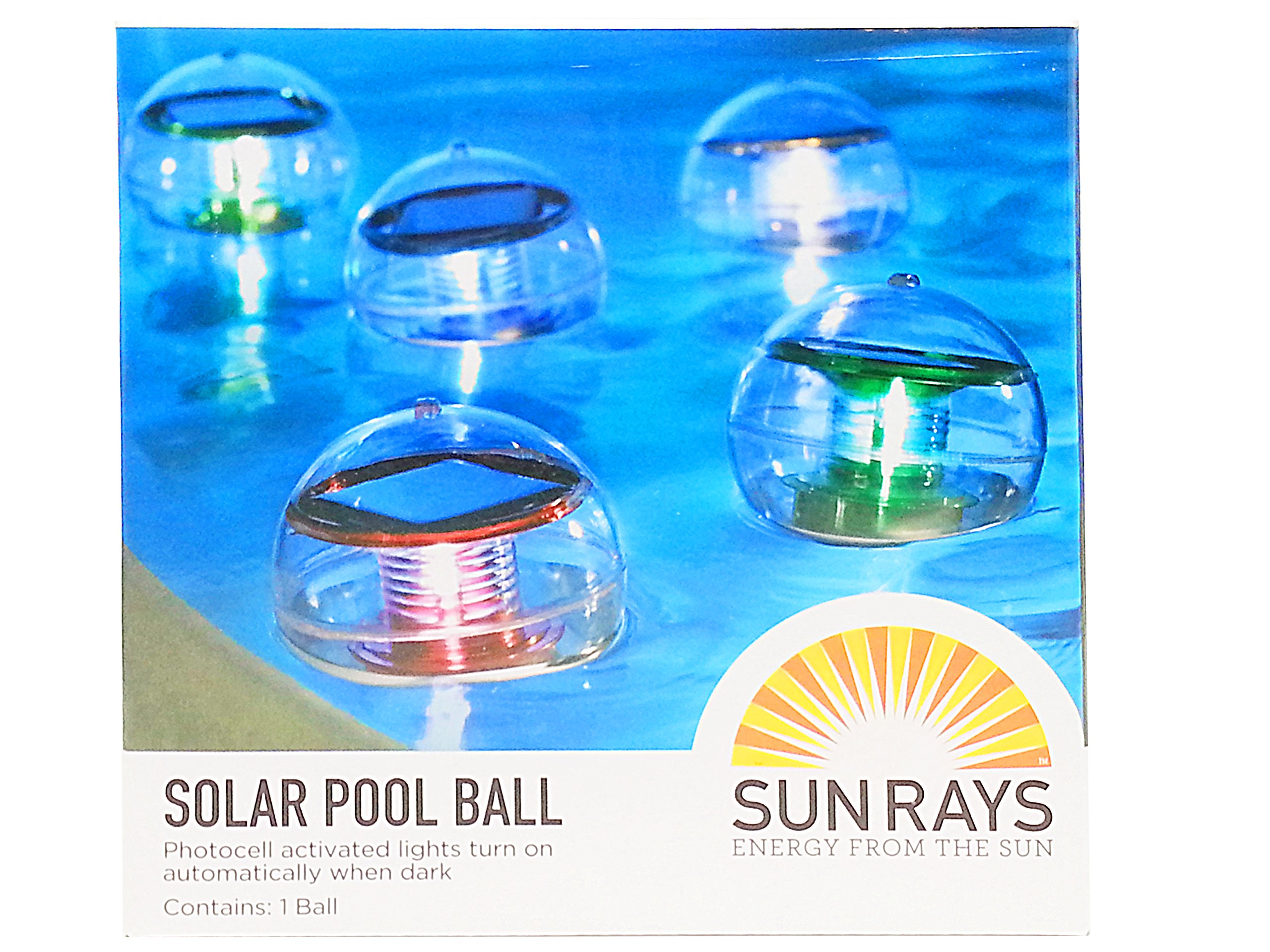 Solar Swimming Pool Lighting Ball, 4.3 inches Diameter –Floating or Hanging Light for Pool Garden Outdoor Landscape– Green